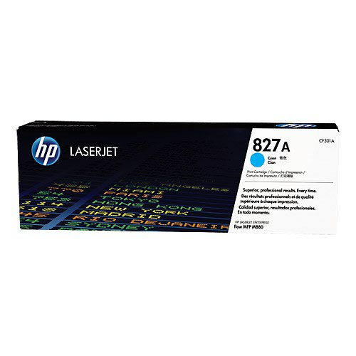 HP No.827A Toner Cartridge Cyan CF301A