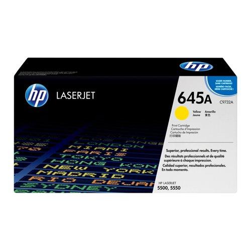 HP No.645A Toner Cartridge Yellow C9732A