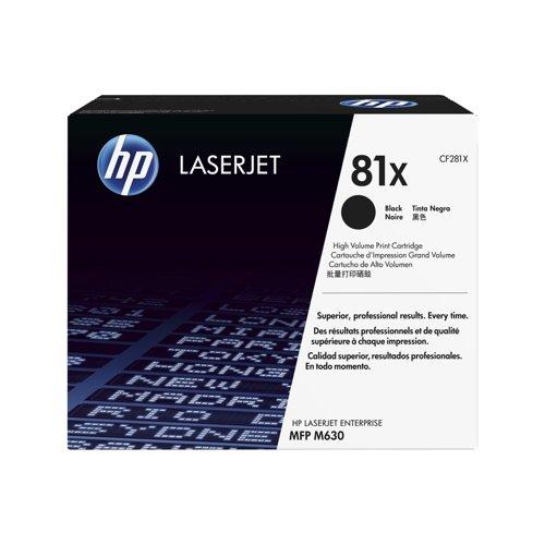 HP 81X Black H/Y Laserjet Toner CF281X