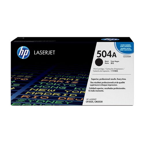 HP No.504A Toner Cartridge Black CE250A