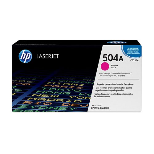 HP No.504A Toner Cartridge Magenta CE253A