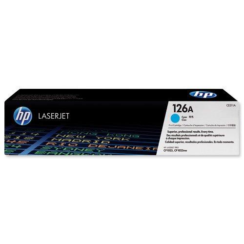 HP No.126A Toner Cartridge Cyan CE311A