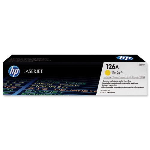 HP No.126A Toner Cartridge Yellow CE312A