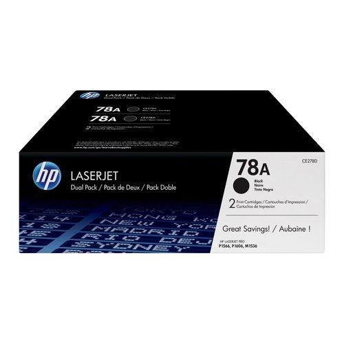 HP No.78A Toner Cartridge Black (2) CE278AD