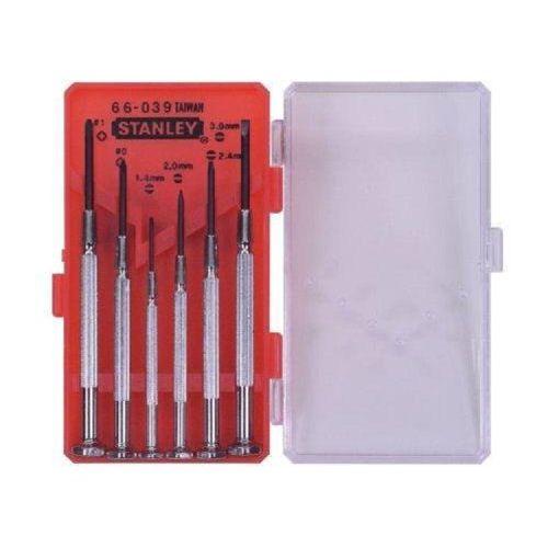 Stanley 6 Piece Precision Screwdriver Set 1-66-039