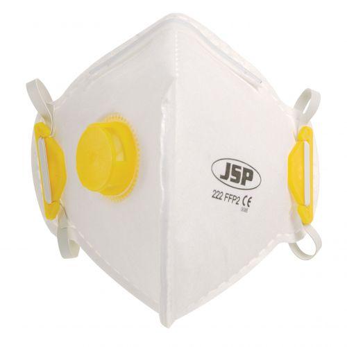 JSP Fold Flat Valved Disposable Mask FFP2 (10) BEB120-101-000
