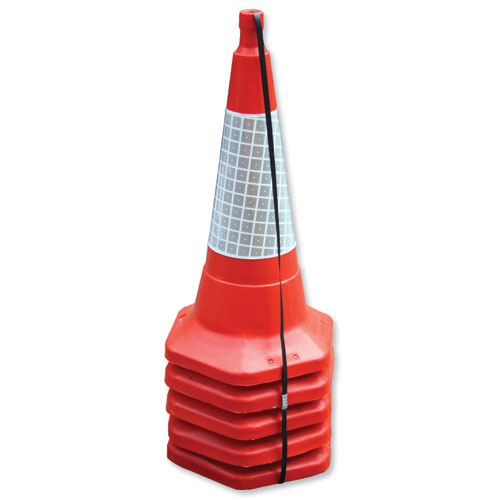 Standard One Piece Safety Cone 750mm (5)