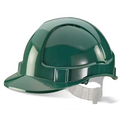 Beeswift Economy Vented Safety Helmet Green BBEVSHG