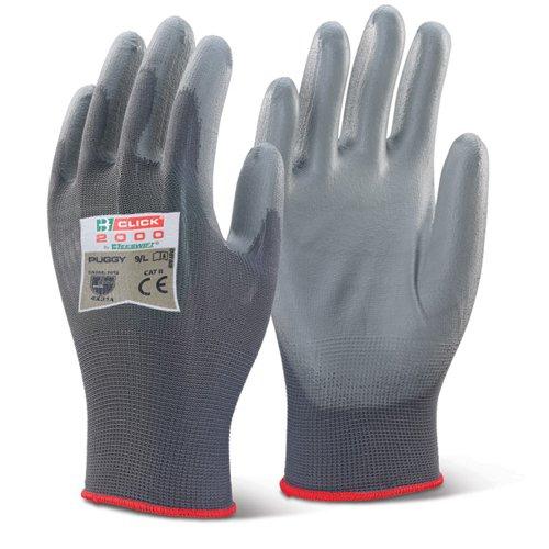 Beeswift PU Coated Glove Large Grey PUGGYL