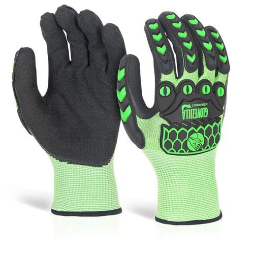 Glovezilla Foam Nitrile Coated Glove Medium Green GZ64LGM