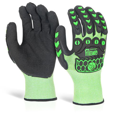Glovezilla Foam Nitrile Coated Glove XL Green GZ64LGXL