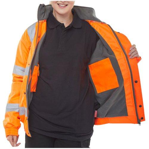 Beeswift High-Visibility Bomber Jacket Orange 5XL CBJFLOR5XL