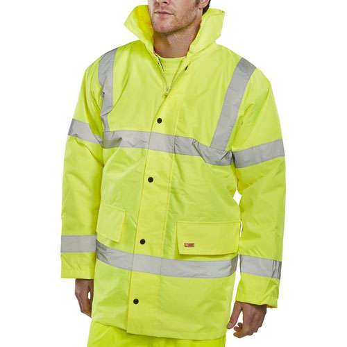 Beeswift High-Visibility Constructor Jacket Saturn Yellow CTJENGSY