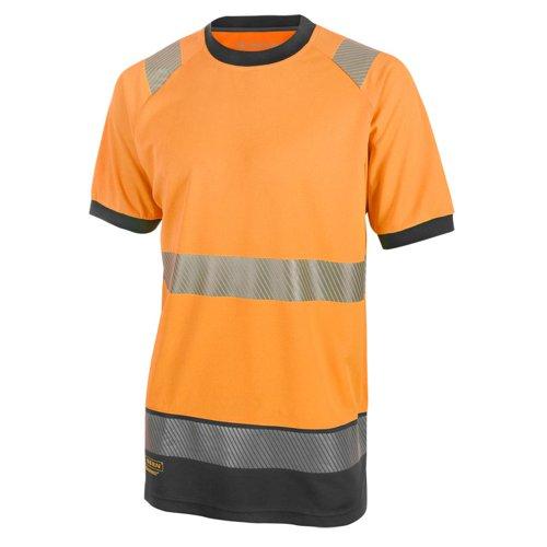 Beeswift Two Tone Short Sleeve T-Shirt Orange/Black 3XL HVTT001ORBL3XL