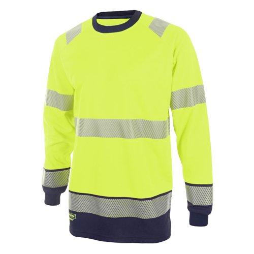 Beeswift Two Tone Long Sleeve T-Shirt Saturn Yellow/Navy Blue 4XL HVTT005SYN4XL