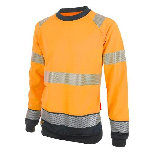 Beeswift Two Tone High-Visibility Sweatshirt Orange/Black Medium HVTT020ORBLM
