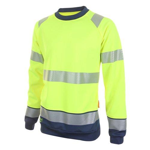 Beeswift Two Tone High-Visibility Sweatshirt Saturn Yellow/Navy Blue 3XL HVTT020SYN3XL