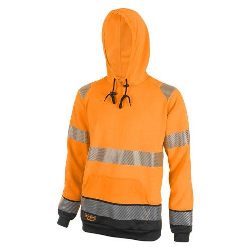 Beeswift Two Tone High-Visibility Hooded Sweatshirt Orange/Black 4XL HVTT025ORBL4XL