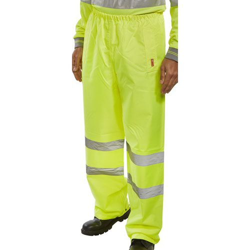Beeswift High-Visibility Traffic Trousers Saturn Yellow TENSY