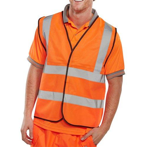 Beeswift High-Visibility Waistcoat Orange Large WCENGORL