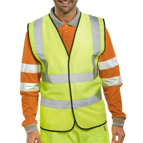 Beeswift High-Visibility Waistcoat Saturn Yellow Large WCENGL