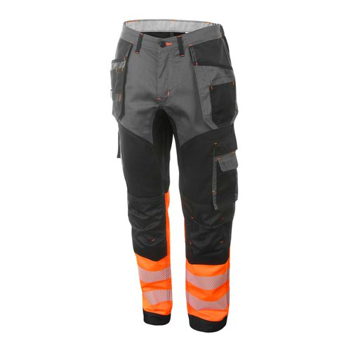 Beeswift Two Tone High-Visibility Trousers Orange/Black 40R HVTT080ORBL40