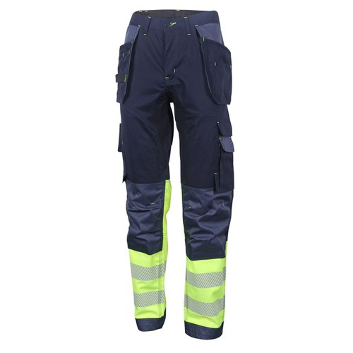 Beeswift Two Tone High-Visibility Trousers Saturn Yellow/Navy Blue 30S HVTT080SYN30S