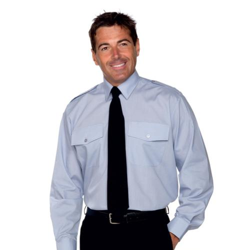 Double Two Long Sleeve Pilot Shirt White 2043A