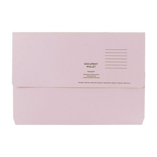 Value Half Flap Document Wallet Foolscap Buff 250gsm