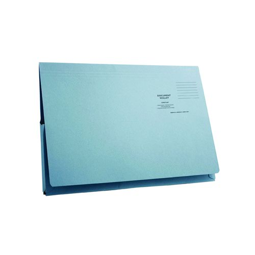 Value Full Flap Document Wallet Blue 285gsm (50)