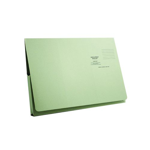 Value Full Flap Document Wallet Green 285gsm (50)