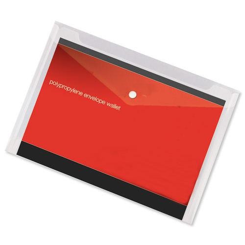 Value Polypropylene Envelope Wallets A4 Clear (5)