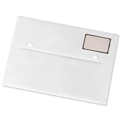Value Polypropylene Document Wallet A4 White (3)