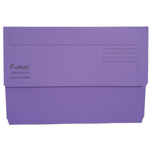 Forever Document Wallet 300gsm Purple 211/5005