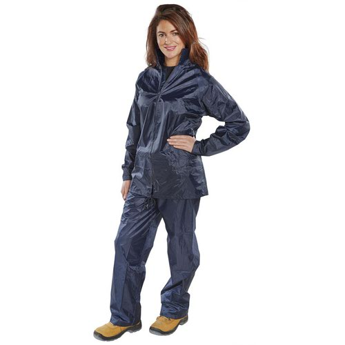 Beeswift Nylon B-Dri Weatherpoof Suit Navy Blue NBDSN
