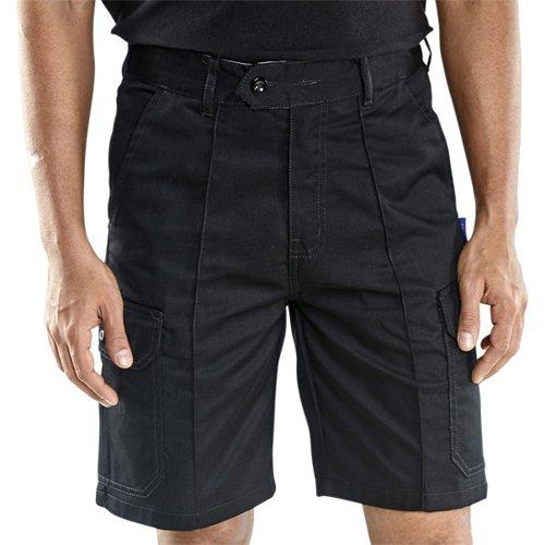 Beeswift Cargo Pocket Shorts Black 32inch CLCPSBL32