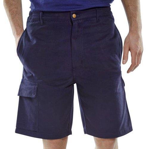 Beeswift Cargo Pocket Shorts Navy Blue 32inch CLCPSN32