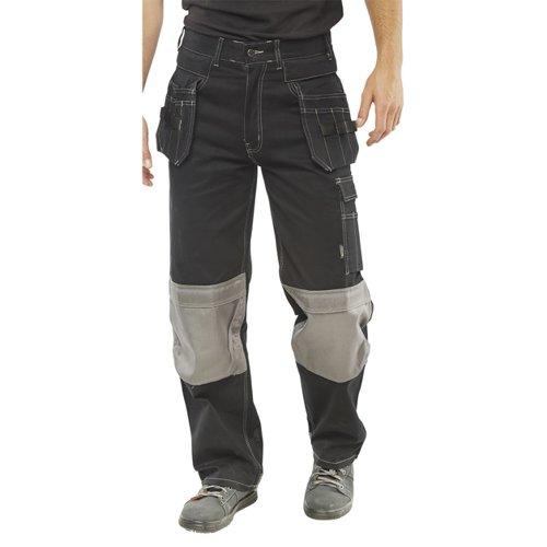 Beeswift Kington Multi-Purpose Pocket Trousers Black 48R KMPTBL48