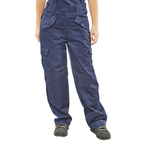 Beeswift Ladies Polycotton Trousers Navy Blue 24inch LPCTHWN24
