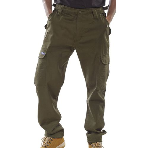 Beeswift Combat Trousers Olive 32inch PCCTO32
