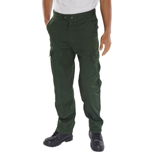 Beeswift Polycotton Drivers Trousers Bottle Green 42inch PCTHWBG42