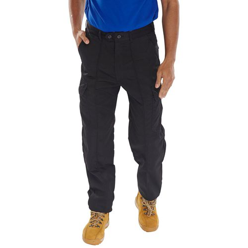 Beeswift Polycotton Drivers Trousers Black 42S PCTHWBL42S
