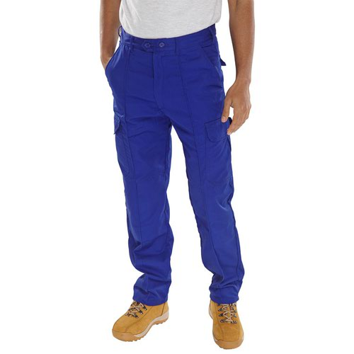 Beeswift Polycotton Drivers Trousers Royal Blue PCTHWR
