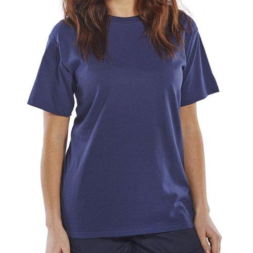 Beeswift Heavyweight T-Shirt Navy Blue Small CLCTSHWNS