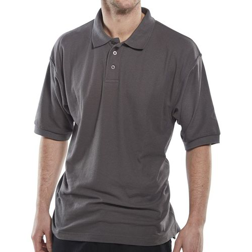Beeswift Polo Shirt Grey 4XL CLPKSGY4XL