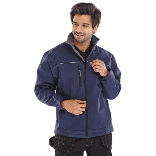 Beeswift Soft Shell Jacket Navy Blue Large SSJNL