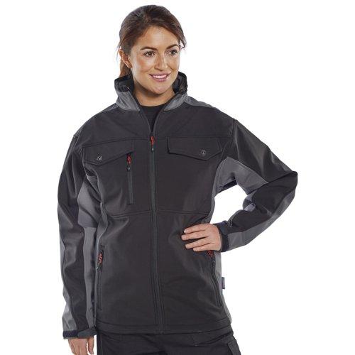 Beeswift Two Tone Soft Shell Jacket Black/Grey 3XL SSJTTBLGY3XL