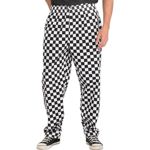 Beeswift Chefs Trousers Black/White Large CCCTBLWL