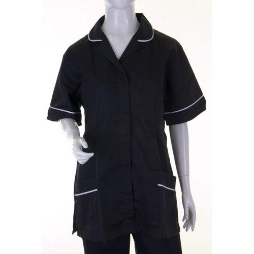 Beeswift Ladies Tunic Black/White 88cm Size 10 ATUBL10
