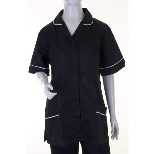 Beeswift Ladies Tunic Black/White 104cm Size 18 ATUBL18